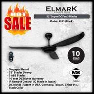 CEILING FAN ELMARK Super DC Fan 9933 WITH REMOTE CONTROL - Black
