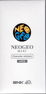 原廠SNK 40 周年紀念遊戲機 SNK NEOGEO mini 專用機身裝飾貼紙 4枚入