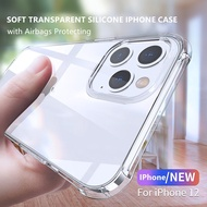 LEEU DESIGN IPhone12mini 12 12Pro 12ProMax Transparent IPhone Casing Soft Cover with Airbags Protecting IPhone12 Case