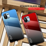 Xiaomi11 MI11 Xiaomi 11 MI 11 Xiaomi MI11pro Xiaomi11pro MI 11 pro Gradient Tempered Glass Phone Cover Hard Cover