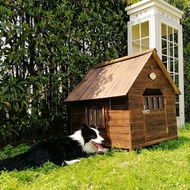 Solid wood kennel dog house dog house indoor outdoor outdoor rainproof large dog