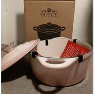 Royce英國皇家玫瑰鑄鐵鍋21cm