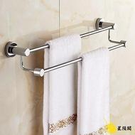 毛巾桿 304不銹鋼毛巾桿 雙桿浴室毛巾架涼毛巾面巾架子衛生間【99購物節】