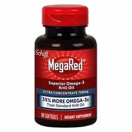 [新鮮現貨 美國Costco] Schiff MegaRed Krill Oil 蝦紅素 磷蝦油 750mg 80粒裝