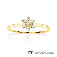 【DY Diamond 大亞鑽石】L.Y.A輕珠寶 18黃K金 捧花 鑽石線戒