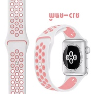 hot [ส่งเร็ว สต๊อกไทย] สาย  Watch  Sport Band สายซิลิโคน สำหรับ applewatch Series 6 5 4 3 ตัวเรื่อน 44mm 4mm 42mm