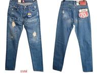 กางเกงยีนส์ ขาเดฟริมแดง Justin(จัสติน) สีซีดเซอร์ ของแท้ 100 % ‼️ ผ้าหนา ใส่ทน