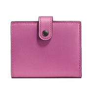 【COACH】專櫃款1941系列桃紅X花朵蝴蝶結皮革零錢袋短夾