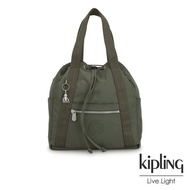 【KIPLING】歐風卡其墨綠兩用側背後背包-小-ART BACKPACK S