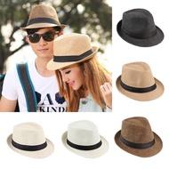 中性Fedora Trilby帽帽草莓巴拿馬風格包裝旅行太陽帽