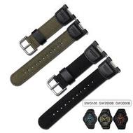卡西歐 Sgw100 Sgw-100 錶帶配件的尼龍錶帶配件更換 Sgw-100-1V Sgw-100-1Vdf 運動錶