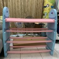 二手塑膠玩具櫃附收納籃