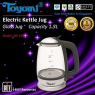 Toyomi Electric Glass Kettle Jug 1.5L - WK 1531