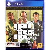 PS4 GTA 5 Grand Theft Auto V Premium Online Edition ( Zone 3 / Asia )( English )