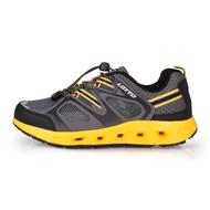 LOTTO 男征服者水陸兩用鞋-排水 慢跑 越野 登山 水陸鞋 黑黃灰@LT0AMW2000@