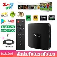Android box TX3 Mini กล่องแอนดรอย ทีวี TX3 Mini Android 8.1 TV BOX 2GB 16GB Amlogic S905W Quad Core Smart TV Set Box  2.4GHz WiFi รองรับภาพระดับ 4K TX3