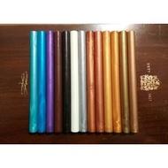 [金屬色系/藍紫咖啡黑銀白] 全26色 火漆蠟 復古 圓柱狀 蠟條 熱熔槍可用 蠟棒 多色可選 火漆印章配件 封蠟