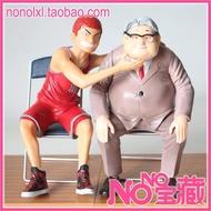 NONO寶藏 現貨灌籃高手手辦三井壽櫻木花道公仔擺件模型安西教練老頭子
