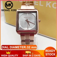 Mk Watch for Women and Men Pawnable Sale Original Authentic Rose Gold Watch for Women Square Style Michael Kors Watch for Women Original Sale Casual Formal Watch for Men and Women Stainless 3644-C