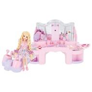 【Fun心玩】LA10817 麗嬰 正版 TOMY 多美 LICCA 莉卡娃娃 魔法捲髮化妝台(不含娃娃) 扮家家酒 禮物