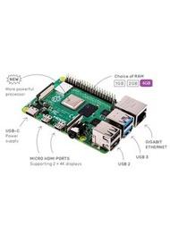 Raspberry Pi 4 Model B / 4GB (UK製)   樹莓派 4代開發版(4GB)