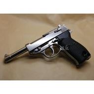 < WLder > WE P38 魯格 4吋 全金屬 瓦斯槍 銀 (BB槍BB彈手槍CO2槍短槍模型槍直壓槍LUGER P-08德國軍官二戰