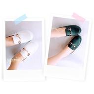 <紅豆是賣鞋的>金屬裝飾厚底穆勒鞋、🔥新款韓版鬆糕鞋