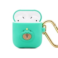 【GARMMA】LINE FRIENDS AirPods 1&2代藍牙耳機盒保護套 恐龍熊大