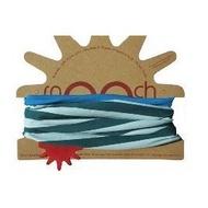 英國redurchin有機棉圍巾雙面脖圍圍脖 50cm天空藍湖水綠條紋雙色 全新大人青少年大童QQMEI