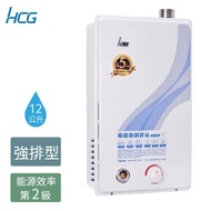【HCG 和成】12公升強制排氣熱水器-GH1255-NG1/FE式;LPG/FE式-2級能效(新品上市 五年保固)