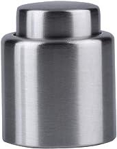 XBXJP Liquor Flow Plug Stopper Pour Cap Fresh Keeping Saver Stainless Steel Press Vacuum Wine Bottle Stopper Seal Storage Wine Gadget Insurance sealing cap (Color : Silver)