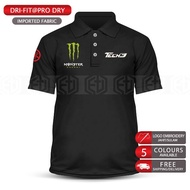 Polo T Shirt Yamaha Tech3 Monster Dry Fit MotoGP Motorcycle Motosikal Superbike Racing Team Casual 125Z RXZ TZM SRL Y15