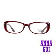 【ANNA SUI 安娜蘇】鏡腳豹紋造型光學眼鏡-經典紅(AS603-279)