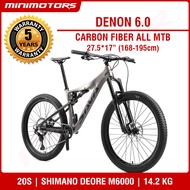 [Preorder] ★VOLCK Tuff 6 Carbon Fiber Full Suspension All Mountain Bike | Mountain Bicycle /SHIMANO DEORE M6000/SAVA/5 Years Warranty- [EST: 31 May 2021]