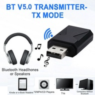USB Wireless Bluetooth 5.0 Audio Music Transmitter Receiver Adapter For TV Audio