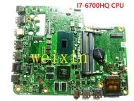Original AIO IMPSL-P0 7459 เมนบอร์ดสำหรับDellพร้อมI7-6700HQ CPU 0503P4 100% ทดสอบดี