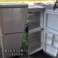 好朋友淡水二手家具---{中古聲寶140公升}雙門冰箱 .電視.洗衣機.除濕機.專業師傅維修.回收買賣(請勿直接下單)