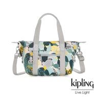 【KIPLING】叢林展葉綠手提側背包-ART MINI