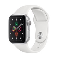 Apple Watch Series 5 GPS 40mm, Silver Aluminum Case, White Sport Band