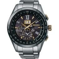【SEIKO 精工】GPS 8X42 GPS太陽能鈦金屬衛星定位手錶-黑(8X42-0AB0G  SSE139J1)