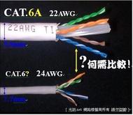 [光訊 10G新世代] 大同網路線 真正 CAT.6A 頂極線材超粗線徑,非一般 扁平CAT.7 CAT.6e SSTP