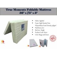 "True Moments Foldable Mattress H200-36"" x 75"" x 3"""