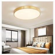 美式金色圓形全銅吸頂燈含LED三色光(荷葉款)直徑30cm-24W