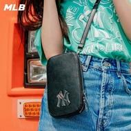 【MLB】質感零錢包 手機包 小包 斜背包 素色基本款 紐約洋基隊(32BGDN111-50L)