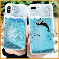 OPPO 手機殼R9 R9S R11 R11S Plus R15 F1S A3 手機殼 閃粉流沙鯨魚 海豚全包邊 防摔殼 水族箱