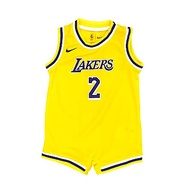 NBA 新生兒包屁衣球衣 湖人隊 黃 Lonzo Ball