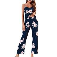 Pajama-Set Pants Shorts Sleepwear Sling Pajamas Nightdress Lingerie Women Underwear Sleepwear Printed Nightdress night dress for women