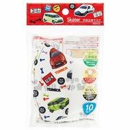 小禮堂 Tomica 多美小汽車 兒童不織布口罩組 立體口罩 防護口罩 拋棄式口罩 (10入 紅 車種)