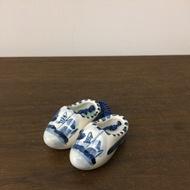 荷蘭陶瓷製鞋。長度約5cm。正品。真品