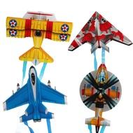 兒童戶外親子互動玩具卡通飛機蝴蝶昆蟲小風箏z-3797